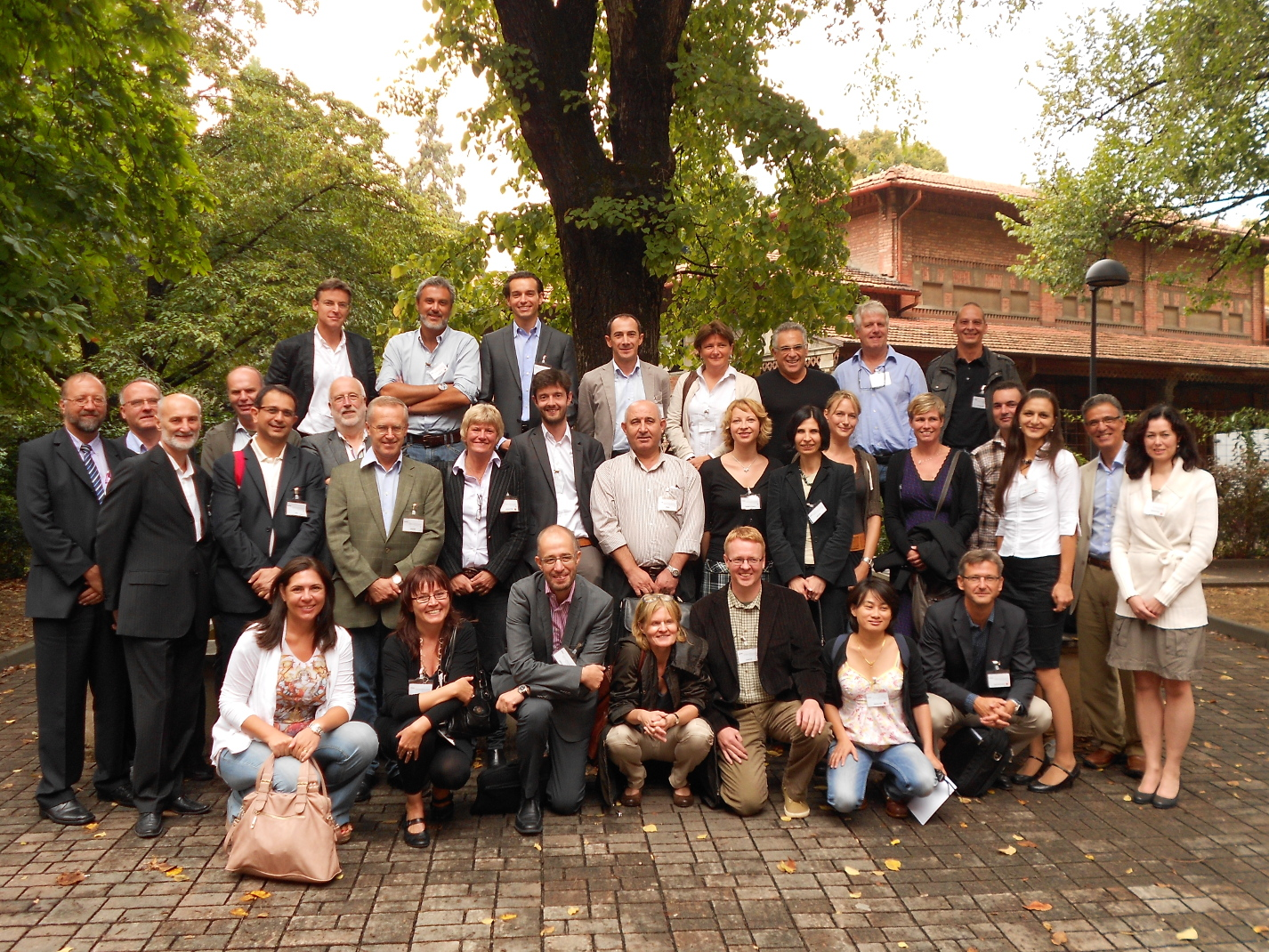 Photograph of the participants of the GENIEUR meeting in Bologna, Italy, 2012. (Please click to view full size image. To close the full size image, click on it again.)